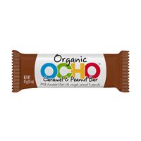 OCHO Organic Candy Bar - Caramel & Peanut