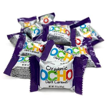 Mini OCHO Organic Candy Bars - Dark Chocolate Caramel