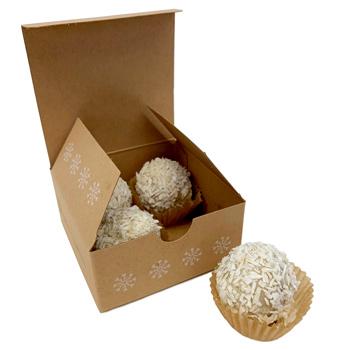 Sjaak's Vegan White Chocolate Hazelnut Snowballs