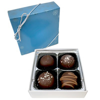 Dark Chocolate Truffles Holiday Assortment