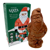"Vegan ""Milk"" Chocolate Santa filled with Gummy Bears"