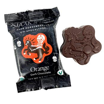 Vegan Dark Chocolate Horsemeeple Bites - Orange * 4 PK