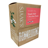 Organic Vegan Melk Chocolate Hearts by Sjaak's Organic Chocolates