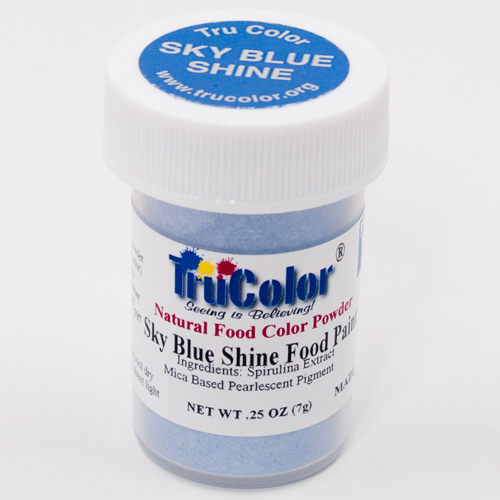Sky Blue Shine Natural Food Paint