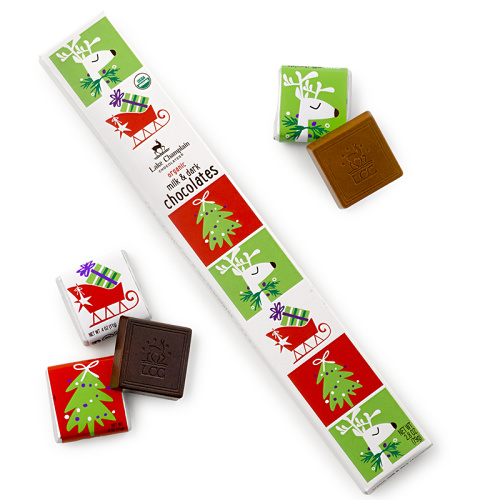 Stocking Stuffer Squares - Organic Milk & Dark Chocolates