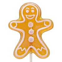 Maple Spice Gingerbread Man Lollipop