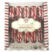 SweetOrganics Peppermint Flavored Organic Candy Canes