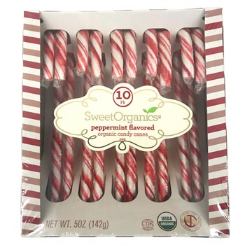 SweetOrganics Peppermint Flavored Organic Candy Canes