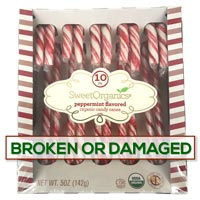 **BROKEN/DAMAGED** SweetOrganics Peppermint Flavored Organic Candy Canes