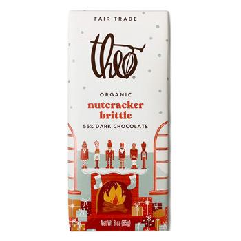 Theo Nutcracker Brittle Dark Chocolate Bar