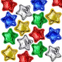 Thompson Milk Chocolate Stars - Assorted Colors