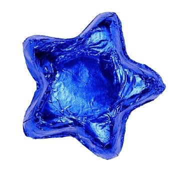 Thompson Milk Chocolate Stars - Blue