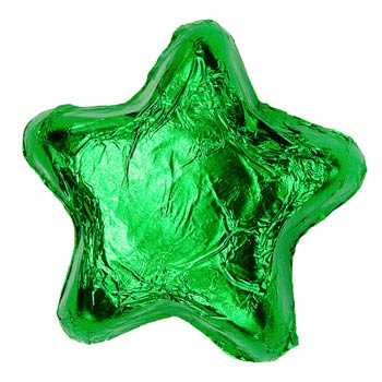 Thompson Milk Chocolate Stars - Green