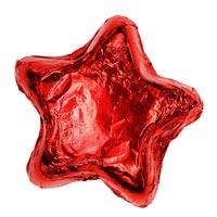 Thompson Milk Chocolate Stars - Red