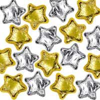 Thompson Milk Chocolate Stars - Silver & Gold