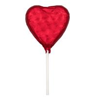 Thompson Red Heart Milk Chocolate Lollipop