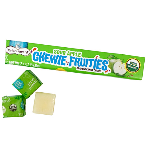 Torie & Howard Sour Chewie Fruities - Sour Apple * Stick