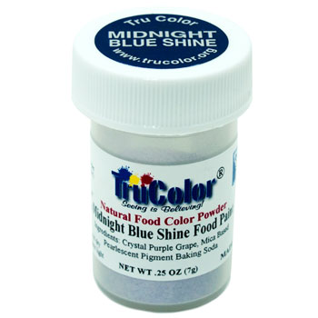 Midnight Blue Shine Natural Food Paint
