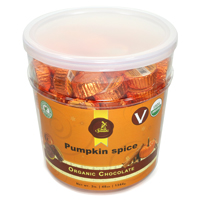 "Sjaak's Vegan ""Milk"" Chocolate Pumpkin Spice Bites"