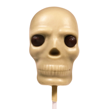 Vegan White Chocolate Skull Lollipop