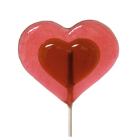 Watermelon Heart Lollipop