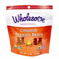 Cinnamon Organic Bears - 6 OZ Bag
