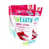 YumEarth Strawberry Smash Organic Lollipops