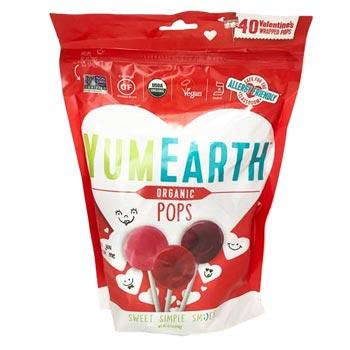 YumEarth Valentine Organic Lollipops * 8.7 OZ