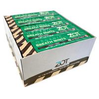 Zot Organic Hard Candy Stick - Breath Mint 10 pack