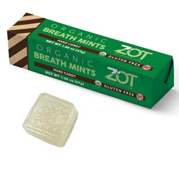 Zot Organic Hard Candy Stick - Breath Mint