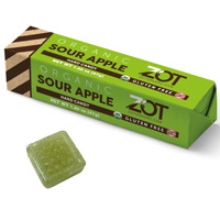 Zot Organic Hard Candy Stick - Sour Apple