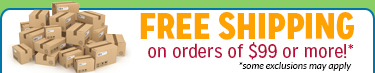 Free Shipping on Orders $99 or more!