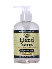 Hand Sanz Antiseptic Hand Sanitizer Fragrance Free