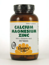 Calcium Magnesium Zinc with L-Glutamic Acid
