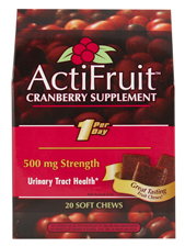 ActiFruit Cranberry Supplement with Cran-Max