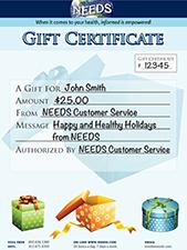 NEEDS Gift Certificate