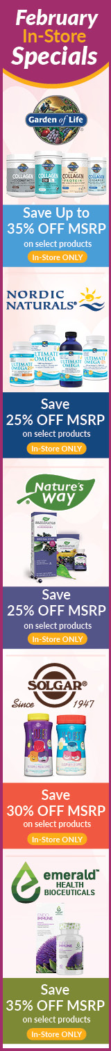 February Natur-Tyme Monthly Specials Sale