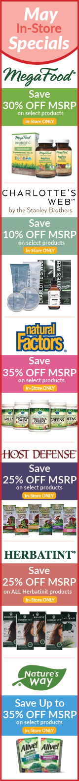 May Natur-Tyme Monthly Specials Sale
