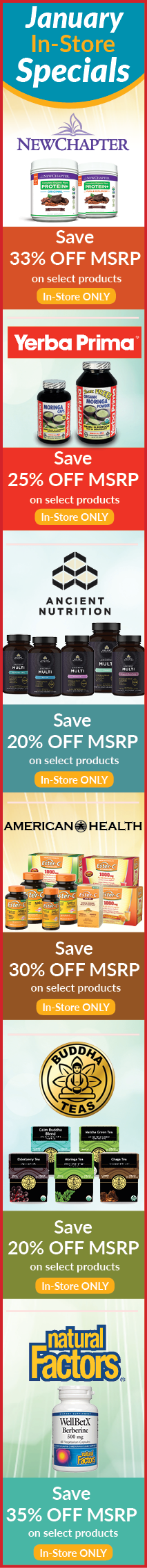 January Natur-Tyme Monthly Specials Sale