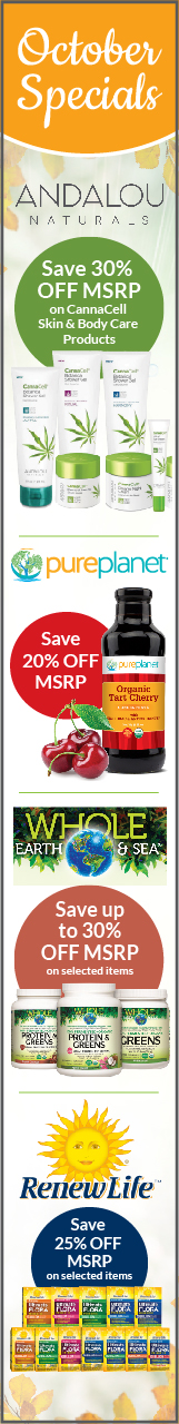 October Natur-Tyme Monthly Specials Sale