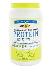 Vegiday Raw Organic Plant Based Protein French Vanilla