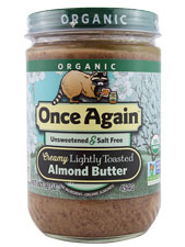 Organic Creamy Lightly Toasted Almond Butter