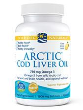 Arctic Cod Liver Oil Soft Gels - Lemon