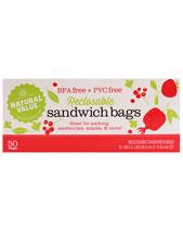 Reclosable Sandwich Size Storage Bags