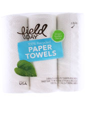 100% Recycled Paper Towels - 2-Ply 60 Sheet Roll