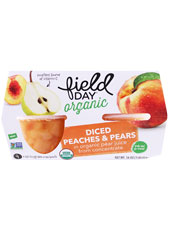 Peaches & Pears Diced Cup Organic - 4 Pack