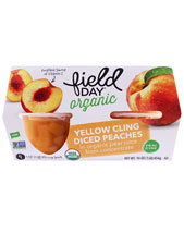 Peaches Diced Cup Organic - 4 Pack