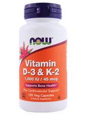 Vitamin D-3 K-2 1000 IU/ 45 MCG