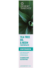 Tea Tree Oil Toothpaste Wintergreen with Neem