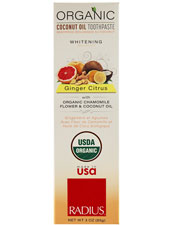 Ginger Citrus Organic Toothpaste